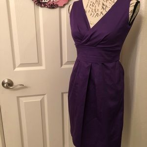MAX & CLEO PURPLE FITTED DRESS SIZE 4